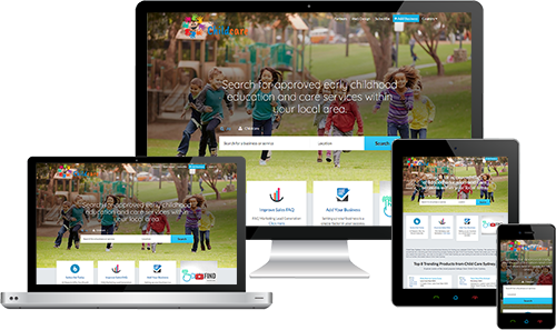 Child Care Sydney displayed beautifully on multiple devices